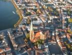 Dom mit Innenstadt aus dem Ballon fotografiert